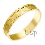 Snubní prsteny LSP 1169 žluté zlato