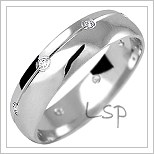 Snubní prsteny LSP 1170b bílé zlato