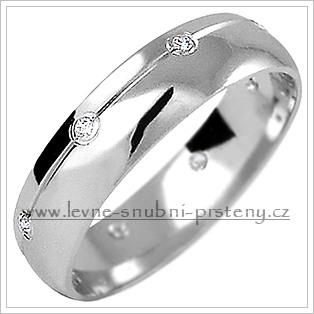 Snubní prsteny LSP 1170bz bílé zlato