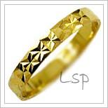 Snubní prsteny LSP 1171 žluté zlato