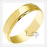 Snubní prsteny LSP 1174 žluté zlato