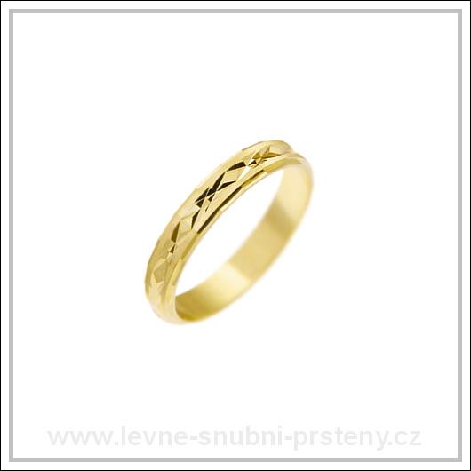 Snubní prsteny LSP 1175 žluté zlato