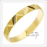 Snubní prsteny LSP 1176 žluté zlato