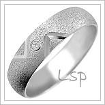 Snubní prsteny LSP 1177b bílé zlato