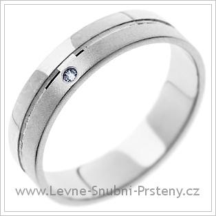 Snubní prsteny LSP 1182 bílé zlato