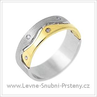 Snubní prsteny LSP 1184 - kombinované zlato