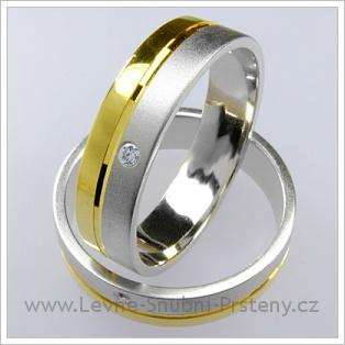 Snubní prsteny LSP 1187 kombinované zlato