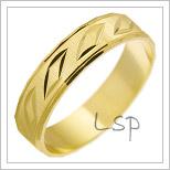Snubní prsteny LSP 1189 žluté zlato