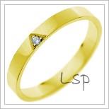 Snubní prsteny LSP 1190 žluté zlato