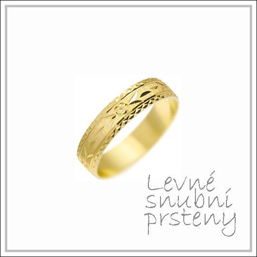 Snubní prsteny LSP 1191 žluté zlato