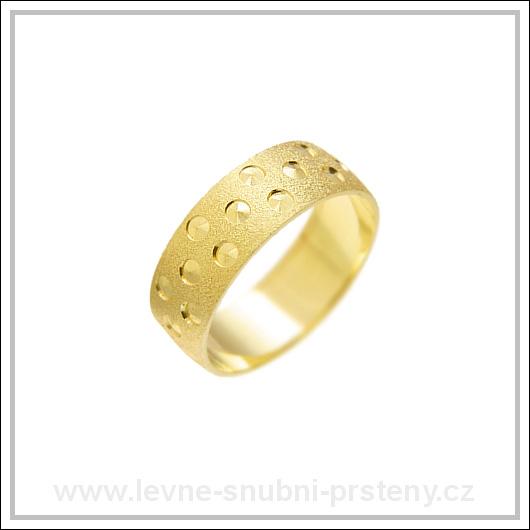 Snubní prsteny LSP 1192 žluté zlato