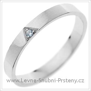 Snubní prsteny LSP 1194 bílé zlato