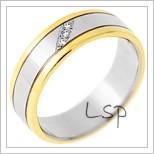 Snubní prsteny LSP 1196 - kombinované zlato