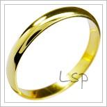 Snubní prsteny LSP 1197 žluté zlato