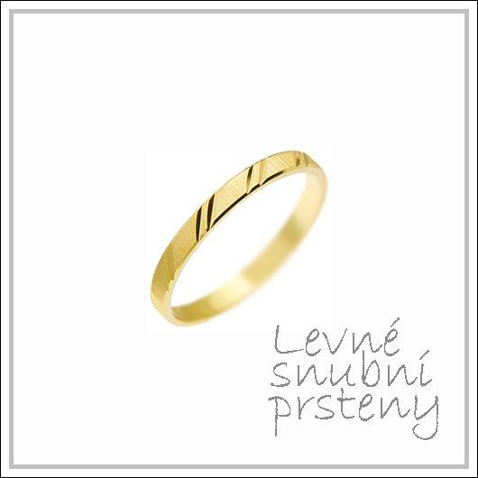 Snubní prsteny LSP 1200 žluté zlato