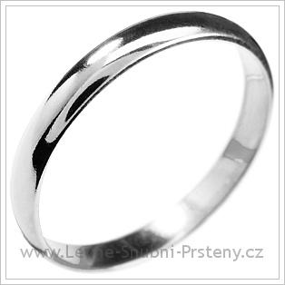 Snubní prsteny LSP 1202 bílé zlato