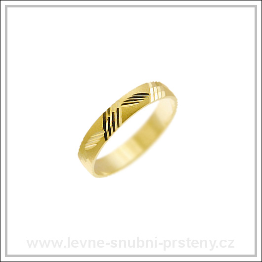 Snubní prsteny LSP 1203 žluté zlato