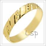 Snubní prsteny LSP 1204 žluté zlato