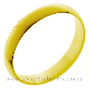 Snubní prsteny LSP 1206 žluté zlato