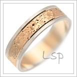 Snubní prsteny LSP 1212 kombinované zlato
