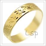 Snubní prsteny LSP 1214 žluté zlato