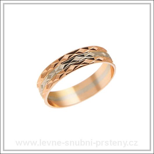 Snubní prsteny LSP 1216 kombinované zlato