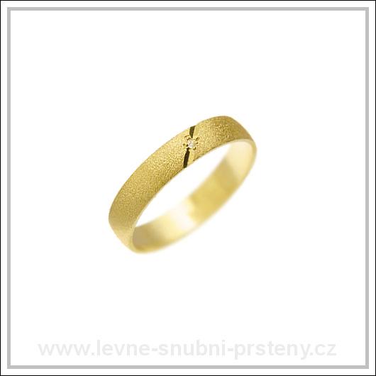 Snubní prsteny LSP 1219 žluté zlato