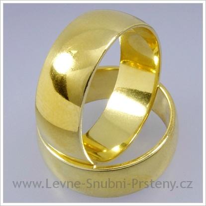 Snubní prsteny LSP 1220 žluté zlato