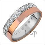 Snubní prsteny s brilianty LSP 1222