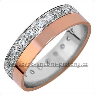 Snubní prsteny LSP 1222 kombinované zlato