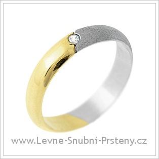 Snubní prsteny LSP 1224 - kombinované zlato