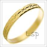 Snubní prsteny LSP 1228 žluté zlato
