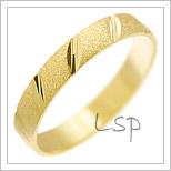 Snubní prsteny LSP 1229 žluté zlato