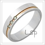 Snubní prsteny LSP 1230 kombinované zlato