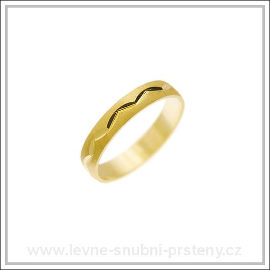 Snubní prsteny LSP 1231 žluté zlato