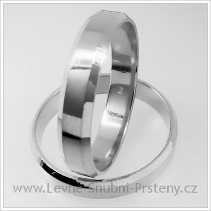 Snubní prsteny LSP 1234 bílé zlato