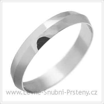 Snubní prsteny LSP 1235 bílé zlato