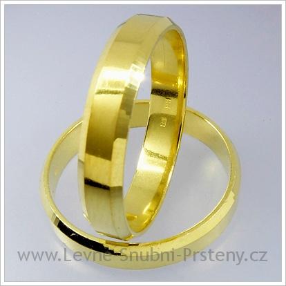 Snubní prsteny LSP 1236 žluté zlato