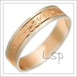 Snubní prsteny LSP 1239 kombinované zlato