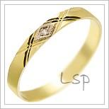 Snubní prsteny LSP 1242 žluté zlato