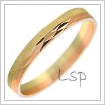 Snubní prsteny LSP 1243 kombinované zlato