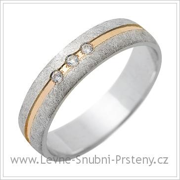 Snubní prsteny LSP 1244 kombinované zlato