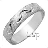 Snubní prsteny LSP 1248 bílé zlato