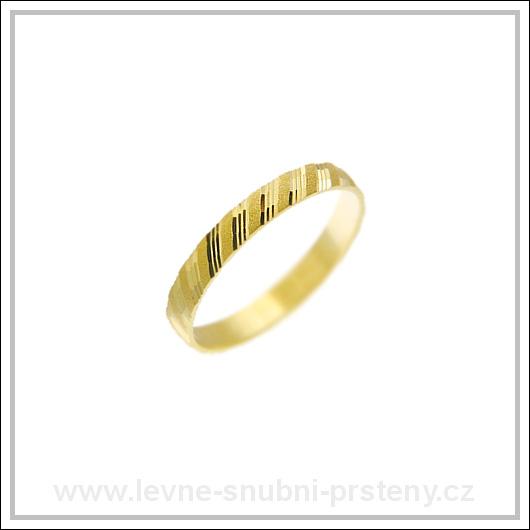 Snubní prsteny LSP 1255 žluté zlato