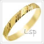 Snubní prsteny LSP 1256 žluté zlato