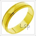 Snubní prsteny LSP 1258 žluté zlato