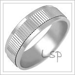 Snubní prsteny LSP 1260b bílé zlato