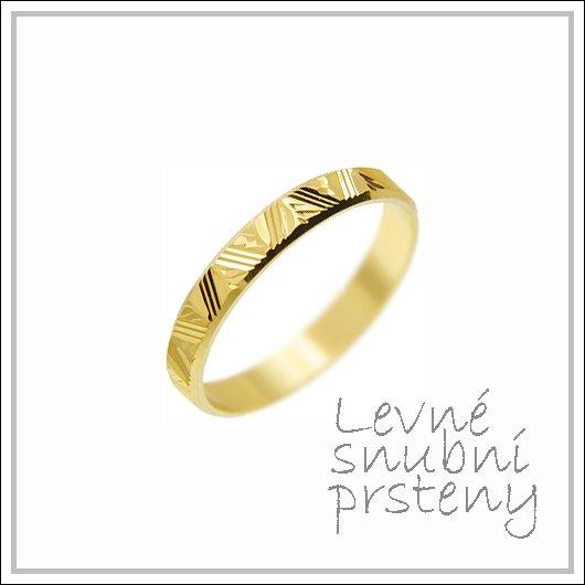 Snubní prsteny LSP 1261 žluté zlato