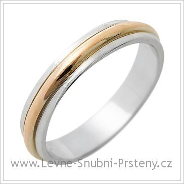 Snubní prsteny LSP 1263 kombinované zlato