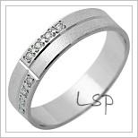 Snubní prsteny LSP 1266 bílé zlato